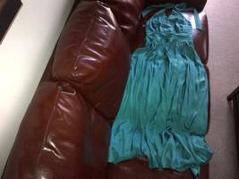 Designer Caprice green long silk dress, lined UK size 12 - $150.00