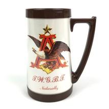 Vintage Thermo-Serv Beer Mug Anheuser-Busch Promotional Ad Mug Brown Handle - $19.54