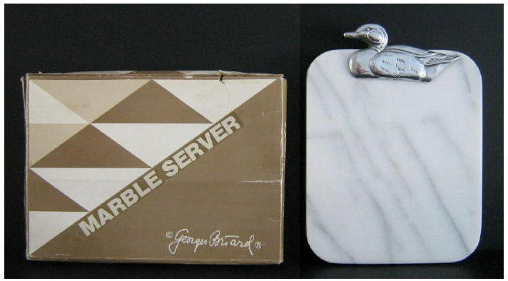 Primary image for Vintage Georges Briard Duck Decoy Marble Server NIB