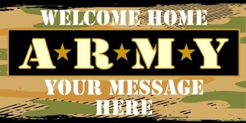 3x6 Vinyl Banner - Welcome Home Army Star Bullets