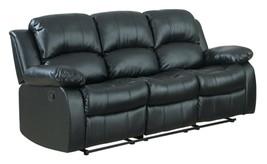 "Homelegance Resonance 83"" Bonded Leather Double Reclining Sofa, Black - $1,367.00"