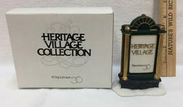 Department 56 Heritage Village Town Sign Dept. Collection Christmas Porcelain  - $9.85