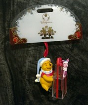 Disney Store Winnie the Pooh & Piglet Christmas Ornament 2007 NEW With Tags - $17.81