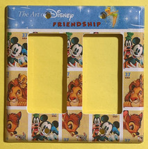 Art of Disney Friendship Stamps Light Switch Outlet Wall Cover Plate Home decor image 5