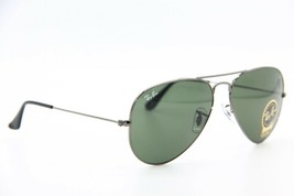 New RAY-BAN Rb 3025 W0879 Gunmetal Aviator Sunglasses Authentic Frame 58-14 - $116.00