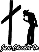Cowgirl At Cross Horse Trailer Decal Sticker Kit Or Truck Window Sticker... - $24.18