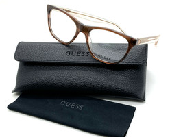 GUESS GU2585 047 Women's Eyeglasses Frames Cat-eye 52-17-135 Brown + CASE - $31.98