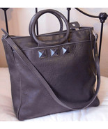 Marc Jacobs Charcoal Gray Carter Rocket Messenger Studded Stones Bag $1395 TPF - $89.99