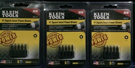 (3-Pack) KLEIN TOOLS #1 Square Insert Power Drivers, 15 Bits Total - €15,88 EUR
