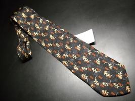 Joseph Abboud Neck Tie Black and Golds Design No 68229 Italian Silk Unused Tag - $15.99