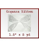 Wide White Organza Craft Ribbon 1.5 in x 5 yd - $2.48