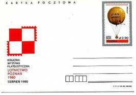 POLAND POSTAL STATIONERY CARDS 1980 HOT AIR BALLOON - $2.00