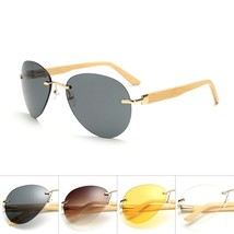 BOYSEEN 2017 New Fashion Products Men Women Sunglass Bamboo Without Bord... - $17.18