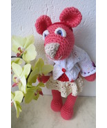 Handmade amigurumi mouse - collectible crochet stuffed toy - OOAK - orange - $723,60 MXN