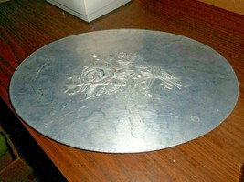 """Vintage Everlast Round 14 1/2"""" Forged Aluminum Serving Tray with Handles - $21.77"""