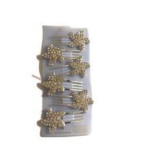 "6 Pc. Bridal Crystal Rhinestone 1"" Starfish Hair Pin Set - $7.59"