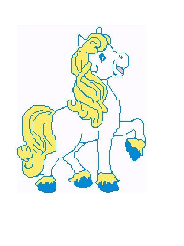 Prancing baby pony