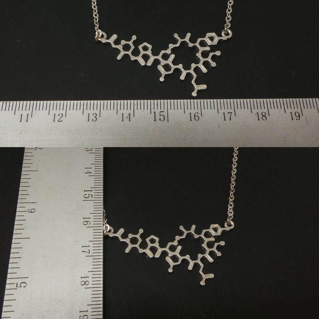 Silver Oxytocin Molecule Necklace Choker  image 4