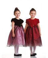 Precious Velvet Top Sparkle Skirt Holiday Flower Girl Dress Crayon Kids USA - €31,65 EUR+