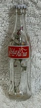 Russia Coke Coca-Cola Mini Miniature dried Purple flowers crystal glass bottle