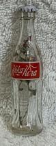 Russia Coke Coca-Cola Mini Miniature dried Purple flowers crystal glass bottle image 1