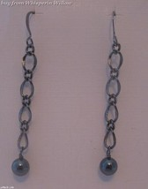 Gun Metal and Hematite Dangle Earrings - $14.95