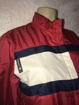 Vintage 90s TOMMY Jeans  HILFIGER Big Flag Logo Nylon Crop Jacket Colorblock S image 5