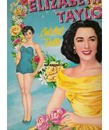 VINTAGE UNCUT 1952 ELIZABETH TAYLOR PAPER DOLLS~#1 REPRODUCTION~GORGEOUS... - $17.50