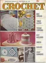 Crochet American Thread Star Book No 190 Bedspread Tablecloth Tissue Top... - $6.50