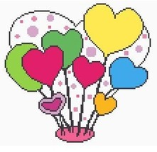 Valentine Hearts Crochet Graph Afghan Pattern - $5.00