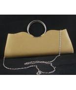 Gold Satin Bijoux Terner Clutch Purse Handbag - $16.99