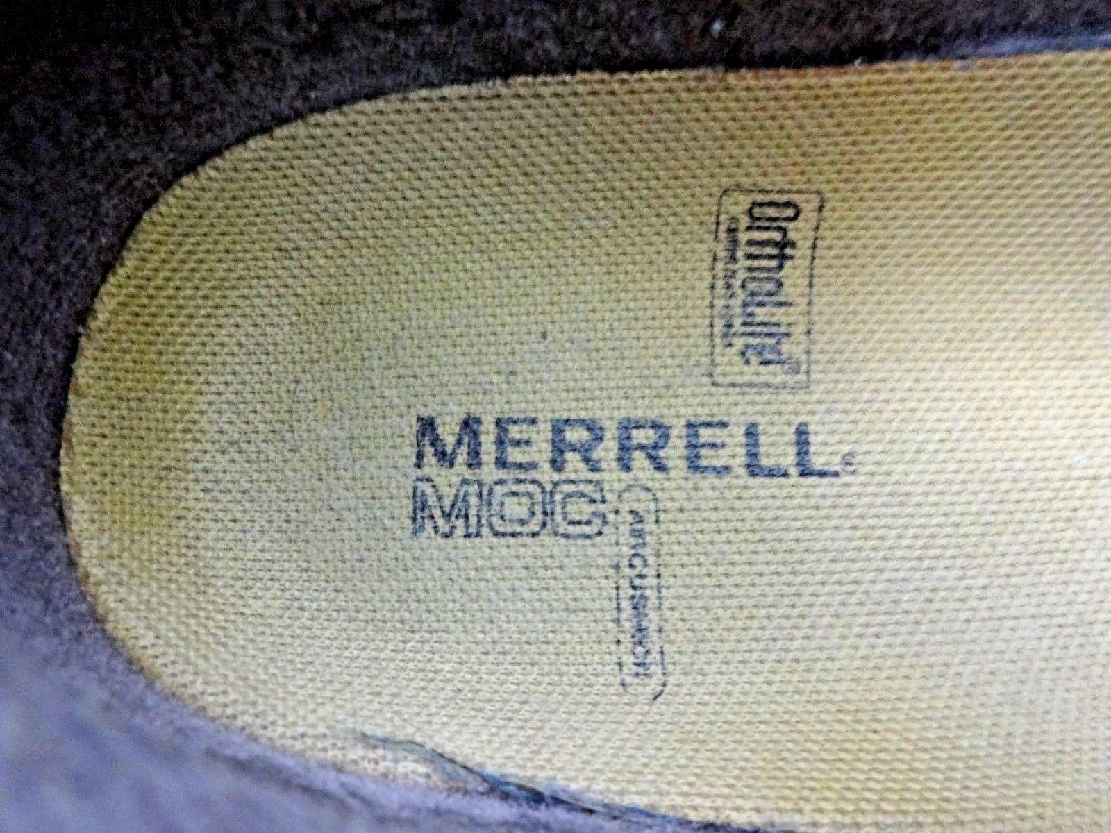 Merrell Bracken mocs brown leather clog loafer mule 8.5 wmns nubuck slip on Shoe