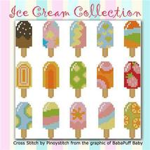 Ice Cream Colorful Collection cross stitch chart Pinoy Stitch - $5.40