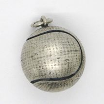 Silver Pendant 925, Burnished and Satin,Ball from Tennis image 3