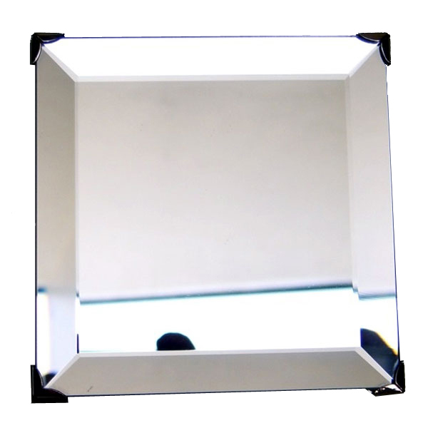 3.375 inch Beveled Square Mirror with Hanger