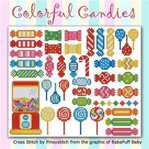 Colorful Candies cross stitch chart Pinoy Stitch - $6.30