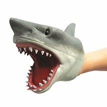 Shark Hand Puppet Soft Kids Toy Gift Great For jaws Cake Decoration Topper - $11.02