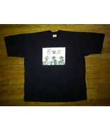 Run DMC Hip Hop Urban Baggy Heat Pressed Black RARE Tee T-Shirt 3xl XXXL 3x - $4.99