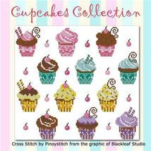 Cupcakes Collection cross stitch chart Pinoy Stitch - $6.30