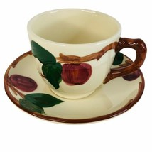 Franciscan Dinnerware Apple Coffee Cup and Saucer USA Backstamp Flying F Vintage - $5.89