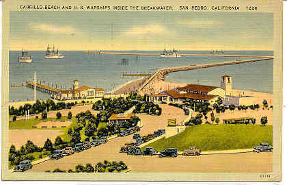 Primary image for  Cabrillo Beach California United States Naval Warships Post Card