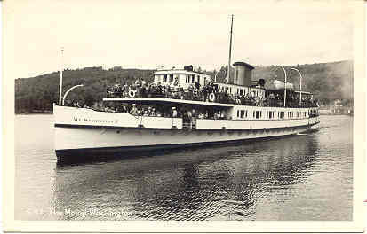 Primary image for Steamship The Mount Washington  vintage Post Card