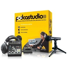 Podcasting Recording Studio Kit Pod studio USB Audio Interface Mixer - $155.77