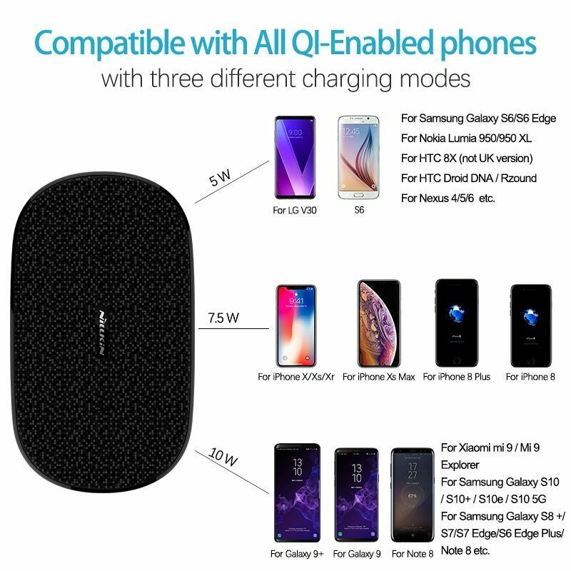 Fast Dual 2 In 1 Wireless Charger Xiaomi 9 Mix 2S Qi Pad Samsung Galaxy S10 5G image 6