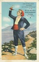 Linen Mexico Postcard O470 Typical Spanish Granada Restaurant Tijuana Curt Teich - $7.00