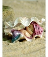 Cute Mermaid Figurine Home Decoration Art Work Resin Miniature Mermaid S... - $22.77