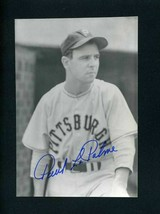 PAUL LaPALME Photo SIGNED (d.2010) 1951 Pittsburgh Pirates - $7.15