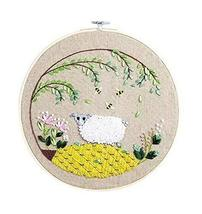 Handmade Embroidery Counted Cross Stitch Kits For Beginner, Sheep Under ... - $17.40