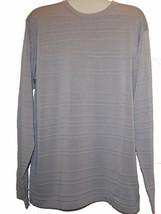 Armani Collezioni Men's Gray Striped Cotton Sweater Size XL $325 - $138.60