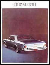 1964 Chrysler Brochure- 300K New Yorker Newport - $10.65